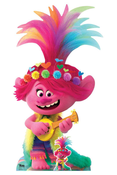 Princess Poppy with Ukulele Official Trolls World Tour Cardboard Cutout