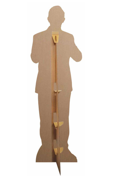Rear of Graham from The 13th Doctor Who Spyfall Suit Official Cardboard Cutout