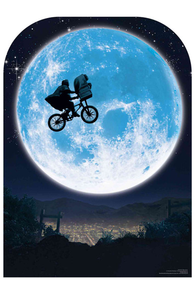 ET Full Moon Cycle Flight Scene Setter Cardboard Cutout