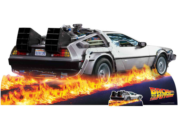 DeLorean Time Machine Car from Back to the Future Cardboard Cutout