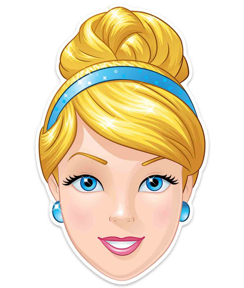 Cinderella Official Disney Princess Child Size 2D Card Party Mask