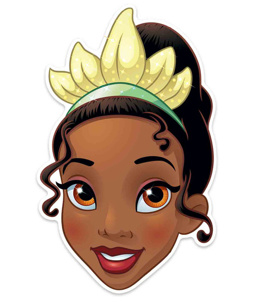 Tiana Official Disney Princess Child Size 2D Card Party Mask
