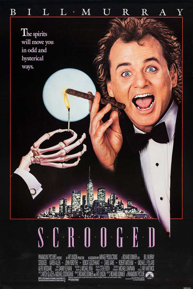 Scrooged Original Movie Poster