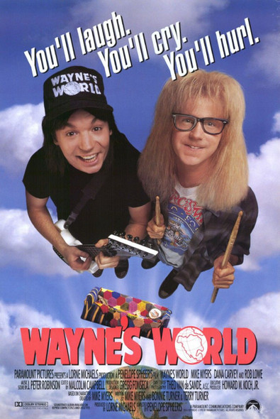 Wayne's World Original Movie Poster