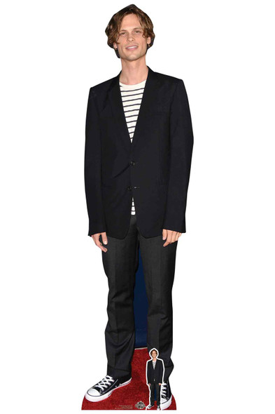Matthew Gray Gubler Striped T-Shirt Lifesize Cardboard Cutout / Standee