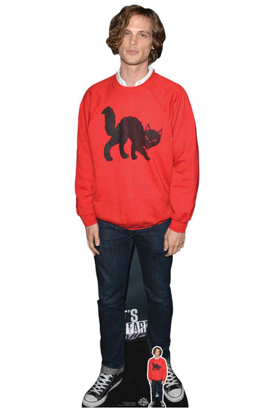Matthew Gray Gubler Red Jumper Lifesize Cardboard Cutout / Standee