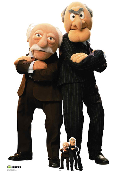 Statler and Waldorf from The Muppets Official Lifesize Cardboard Cutout