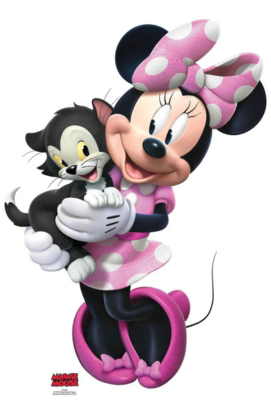 Minnie Mouse with Figaro the Cat Official Disney Cardboard Cutout / Standee