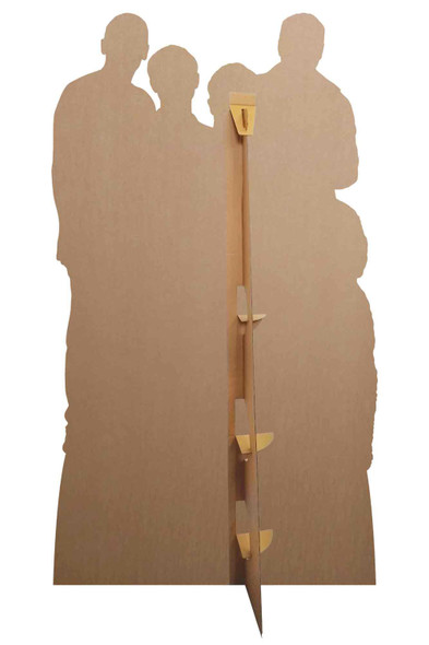 Rear of Friday Night Dinner Group Official Cardboard Cutout