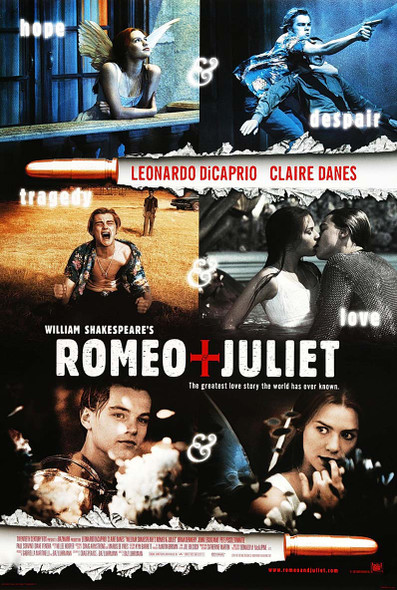 William Shakespeare's Romeo + Juliet (1996) Original Movie Poster International Style