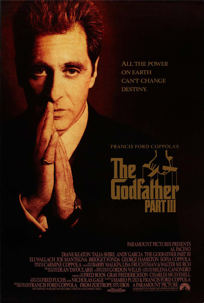 The Godfather Part III Original Movie Poster Final Style