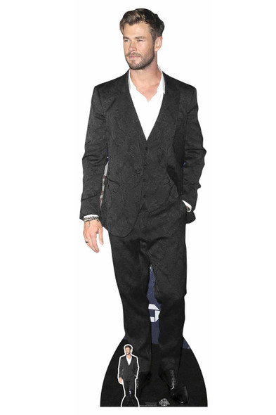 Chris Hemsworth White Shirt Celebrity Lifesize Cardboard Cutout