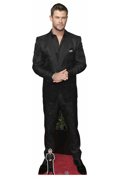 Chris Hemsworth Black Shirt Celebrity Lifesize Cardboard Cutout