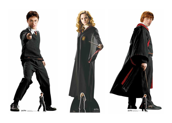 Harry Potter and Friends Cardboard Cutout School Uniform Style 3 Pack
