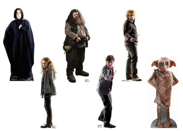 Harry Potter Variety Mini Cardboard Cutout Set of 6