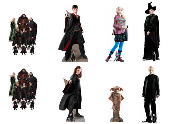Harry Potter Themed Cardboard Cutout Party Pack
