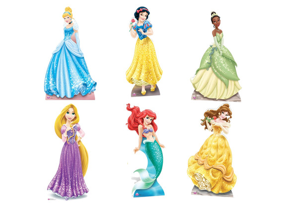 Disney Princess Official Lifesize Cardboard Cutouts - Set of 6