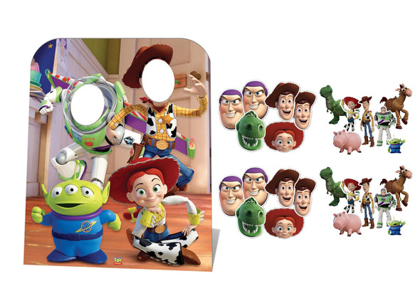 Toy Story Party Pack with Cardboard Stand in, Masks and Tabletops