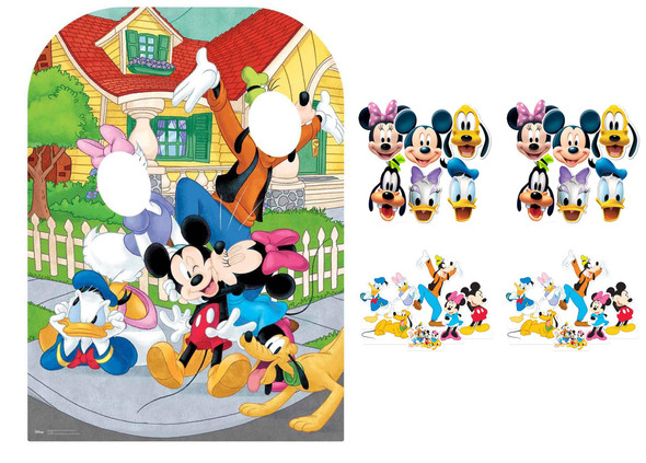 Mickey Mouse and Friends Party Pack with Cardboard Stand In, Masks and Tabletops