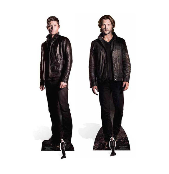 Supernatural Sam and Dean Winchester Official Cardboard Cutouts Twin Pack