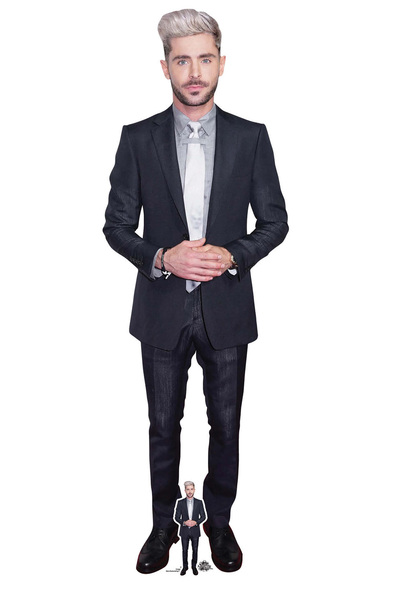 Zac Efron White Tie Lifesize Cardboard Cutout / Standee