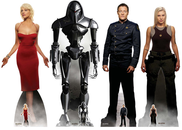 Battlestar Galactica Official Lifesize Cardboard Cutout - Set of 4