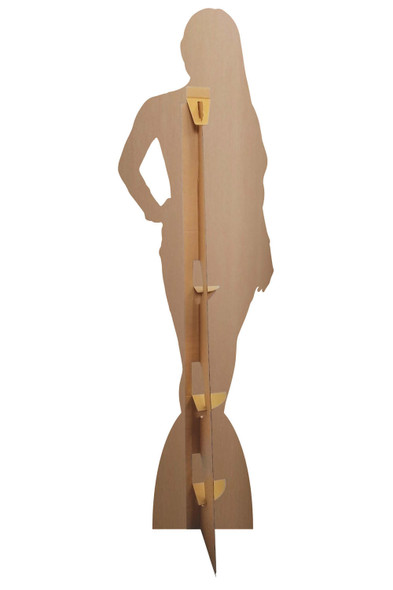 Rear of Addison Rae White Dress  Celebrity Cardboard Cutout