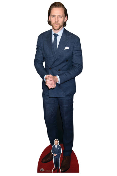 Tom Hiddleston Blue Tie Celebrity Cardboard Cutout / Standee