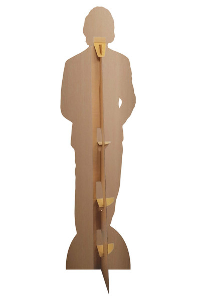 Rear of Tom Hiddleston Blue Tie Celebrity Cardboard Cutout