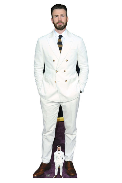 Chris Evans White Suit Lifesize Cardboard Cutout