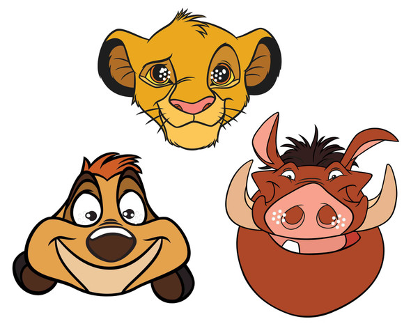 The Lion King Official Disney Variey 2D Card Party Mask 3 Pack