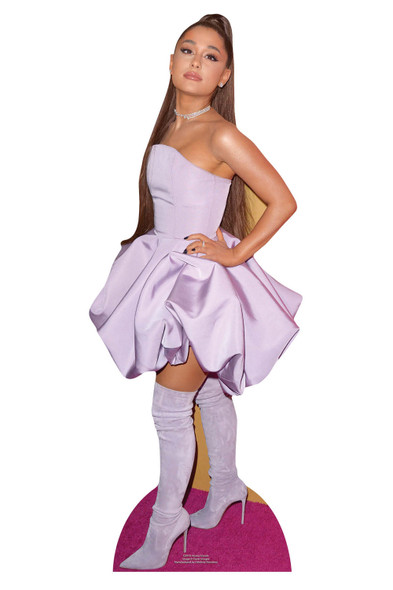 Ariana Grande Purple Dress Mini Cardboard Cutout / Standee