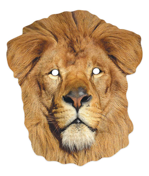 Lion 2D Animal Single Card Party Mask