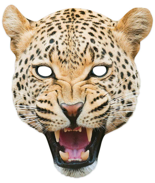 Leopard 2D Animal Single Card Party Mask