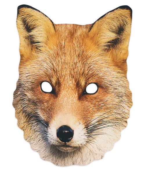 Fox 2D Animal Single Card Party Mask