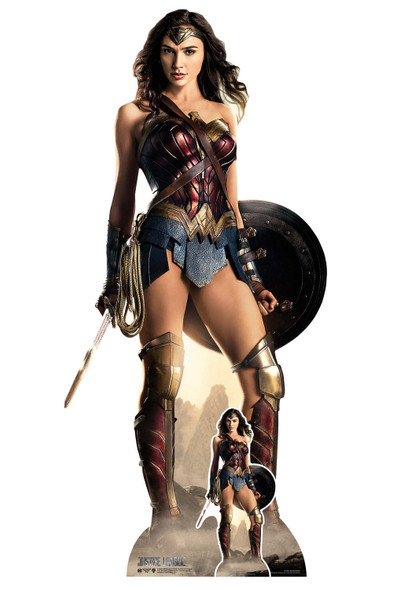 Wonder Woman Justice League Shield Lifesize Cardboard Cutout / Standee
