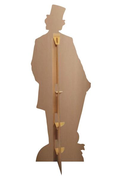 Rear Of Willy Wonka Lifesize Cardboard Cutout / Standee