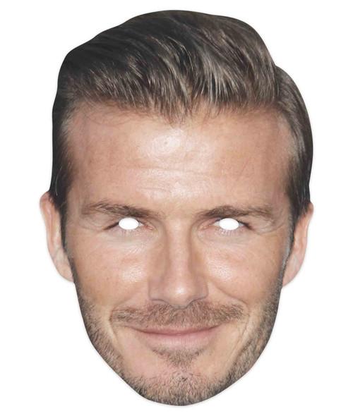 David Beckham Celebrity Footballer 2D Single Card Party Mask
