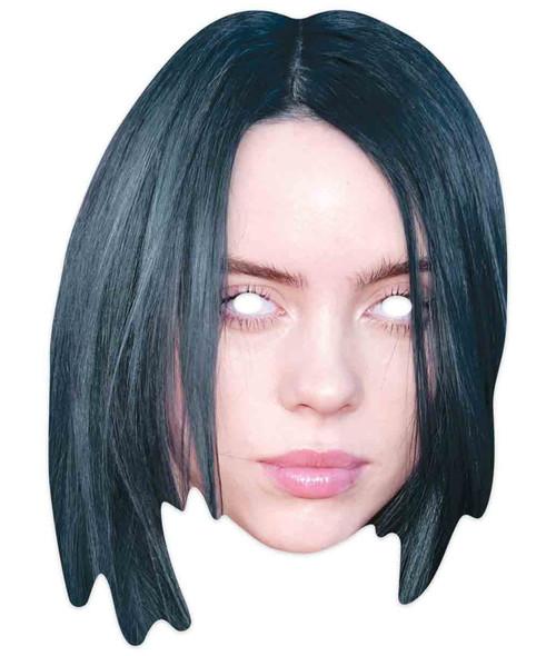 Billie Eilish Celebrity Singer 2D Single Card Party Mask