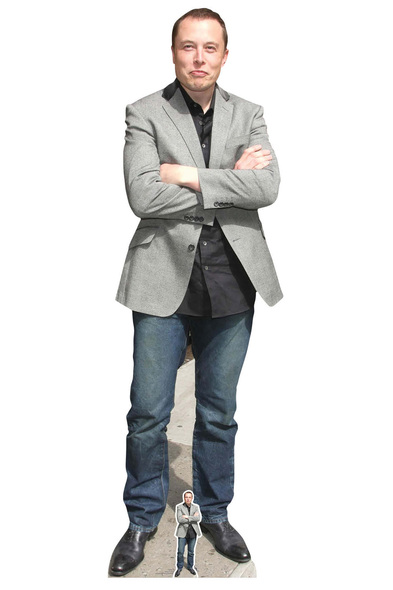 Elon Musk Entrepreneur Lifesize and Mini Cardboard Cutout / Standup
