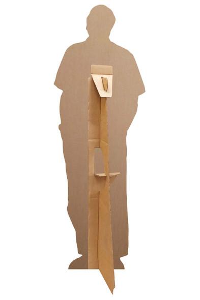 Rear of Sir David Attenborough Celebrity Mini Cardboard Cutout