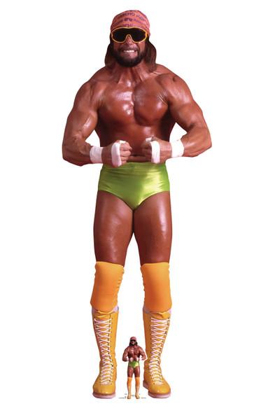 Macho Man Randy Savage Green Shorts WWE Lifesize and Mini Cardboard Cutout