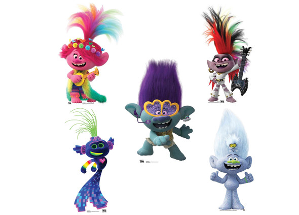 Trolls World Tour Cardboard Cutout Party Pack of 5