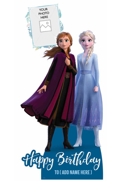 Frozen Personalised Photo and Name Cardboard Cutout / Standup