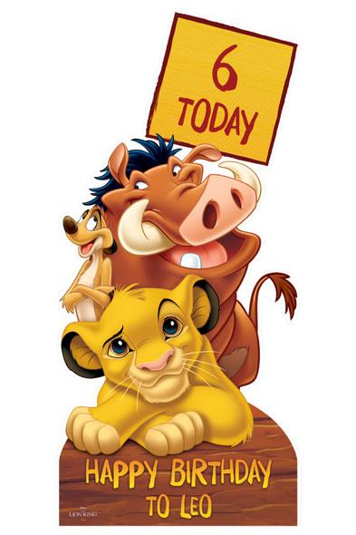 Lion King Disney Personalised Happy Birthday Cardboard Cutout in situ