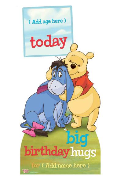 Winnie the Pooh Disney Personalised Happy Birthday Cardboard Cutout / Standup