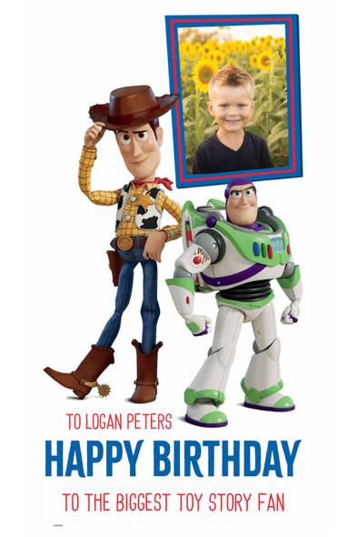 Toy Story Disney Personalised Photo and Name Cardboard Cutout in situ