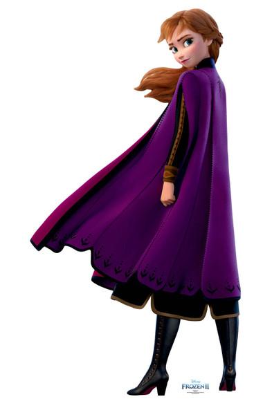 Anna Purple Coat from Frozen 2 Official Disney Cardboard Cutout