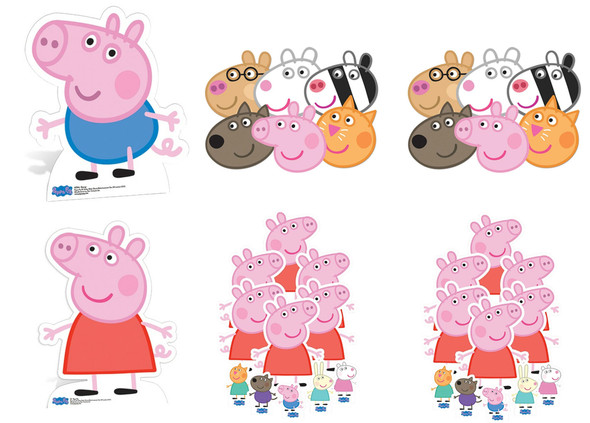 Peppa Pig and George Party Pack with Cardboard Cutouts, Masks and Tabletops
