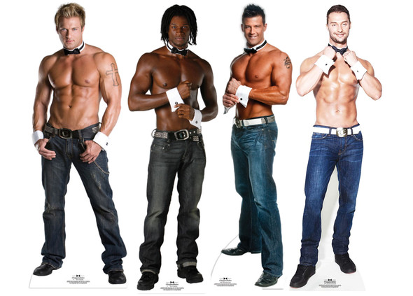Chippendale Collar and Cuffs Official Lifesize Cardboard Cutouts Collection of 4
